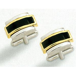 Colibri Coordinating Collection Two Tone Cuff Links ACL-10100