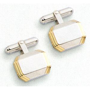 Colibri Coordinating Collection Two Tone Cuff Links ACL-11100-W