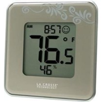 La Crosse Technology Digital Thermometer and Hygrometer in Silver 302-604S-TBP