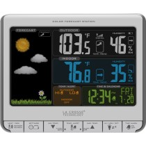 La Crosse Technology 308-1412S-INT Color LCD Wireless Weather Station with USB Charging Port and Customizable Temperature Alerts