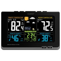 La Crosse Technology 308-1414MB Wireless Color Weather Station with Mold Indicator, Black