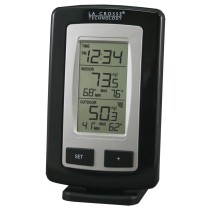 La Crosse Technology WS-9245UBK-IT-CBP Wireless Outdoor and Indoor Temperature Station with Time