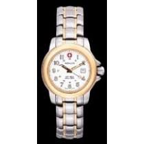Ladies Terragraph(TM) Quartz White Dial, Bi-Color Case, Stainless Bracelet