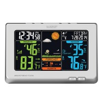 La Crosse Technology C83332 Wireless Atomic Digital Color Forecast Station with Alerts, White