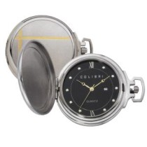 Colibri Stainless Steel & 14KT Gold Pocket Watch PWQ-96817-S