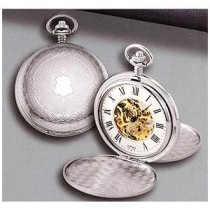 Mechanical Collection Colibri Pocket Watch, 500, Seleton, Double Dust Cover, Silver-Tone PWS-95809-N
