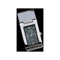 Silver Matrix Money Clip and Timepiece AMC-026100C