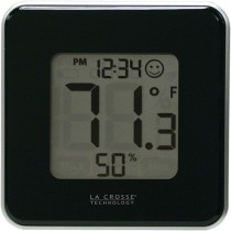 La Crosse Technology Digital Thermometer and Hygrometer in Black 302-604B-TBP