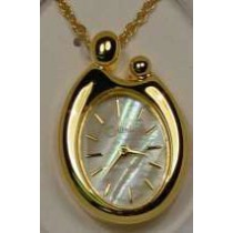 Colibri Mother of Pearl Dial Gold Tone Mother and Child Pendant PWL-90045
