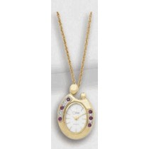 Colibri Mother and Child Ruby Pendant Watch PWL90050