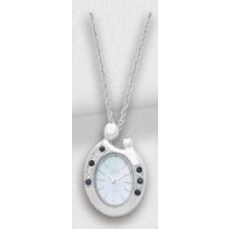 Colibri Mother and Child Sapphire Pendant Watch PWL90051