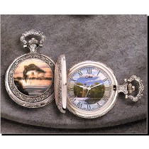 Colibri Wildlife Series Eagle Quartz Pocket Timepiece PWS-95876-S