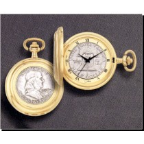 Colibri Coin Collection Franklin Half Dollar Quartz Pocket Timepiece PWS-95910