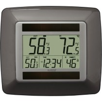 La Crosse Technology WS-8120U-IT-BR-T Solar Temperature & Humidity with Clock
