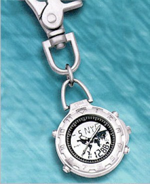 Colibri CX Gear Sport Analog Digital World Time Alarm Clip Timepiece PWS-95637